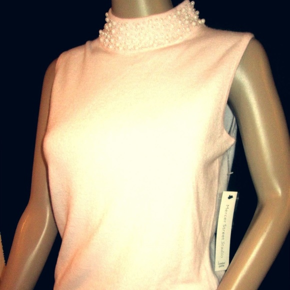 1e7238974b MERCER STREET STUDIO Pink Embroidered Top S P